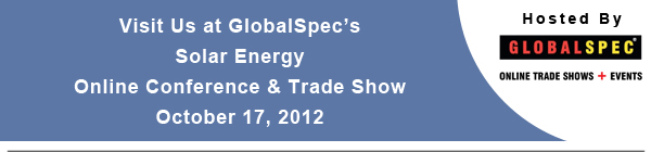 Visit Us at the Solar Energy Online Conference & Trade Show! - October 17, 2012